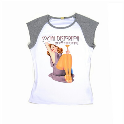social-distortion - Sex, Love, Champagne Sleeveless Raglan - Women's (