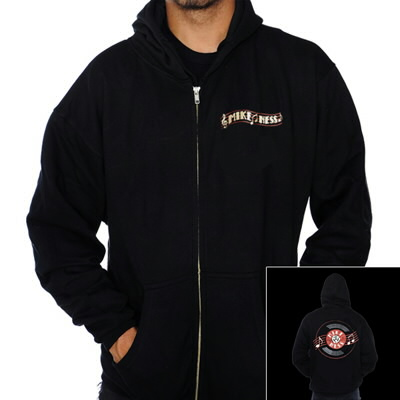 mike-ness - Record Zip-Up Hoodie (Black)