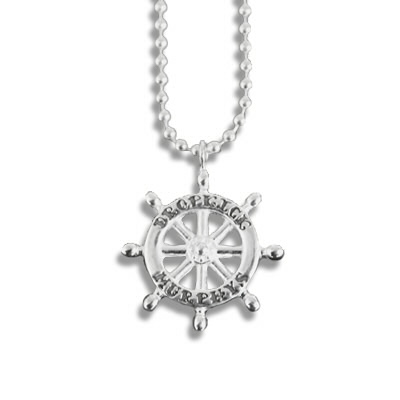 dropkick-murphys - DKM Ship Wheel Necklace