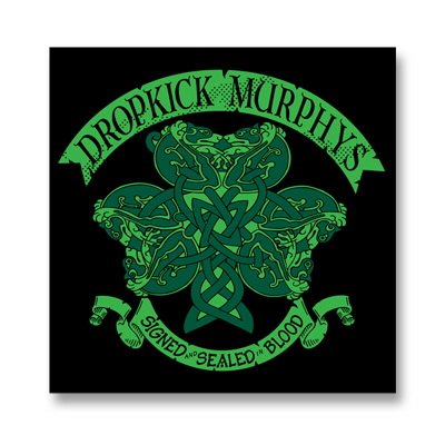 dropkick-murphys - Knotwork Shamrock Sticker