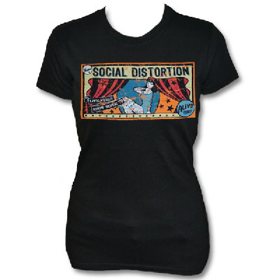 social-distortion - Tattoo Lady Backdrop T-Shirt (Black)