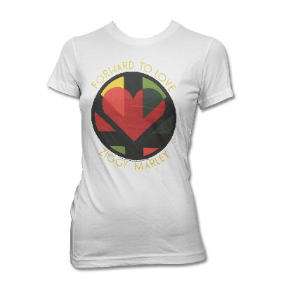 ziggy-marley - Forward To Love V-Neck (White) - Women's